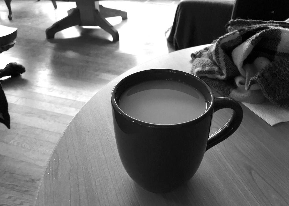 coffee at Dr. Coffee's Cafe in Regina, Saskatchewan