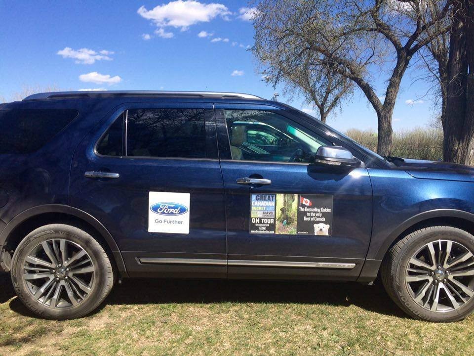 The Ford Explorer we drove to Ogema. Photo courtesy of Jenn Smith Nelson.