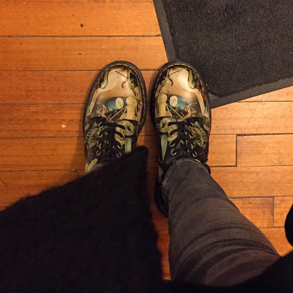 These are my  Dr. Martens Hell Pascals , and I love them.