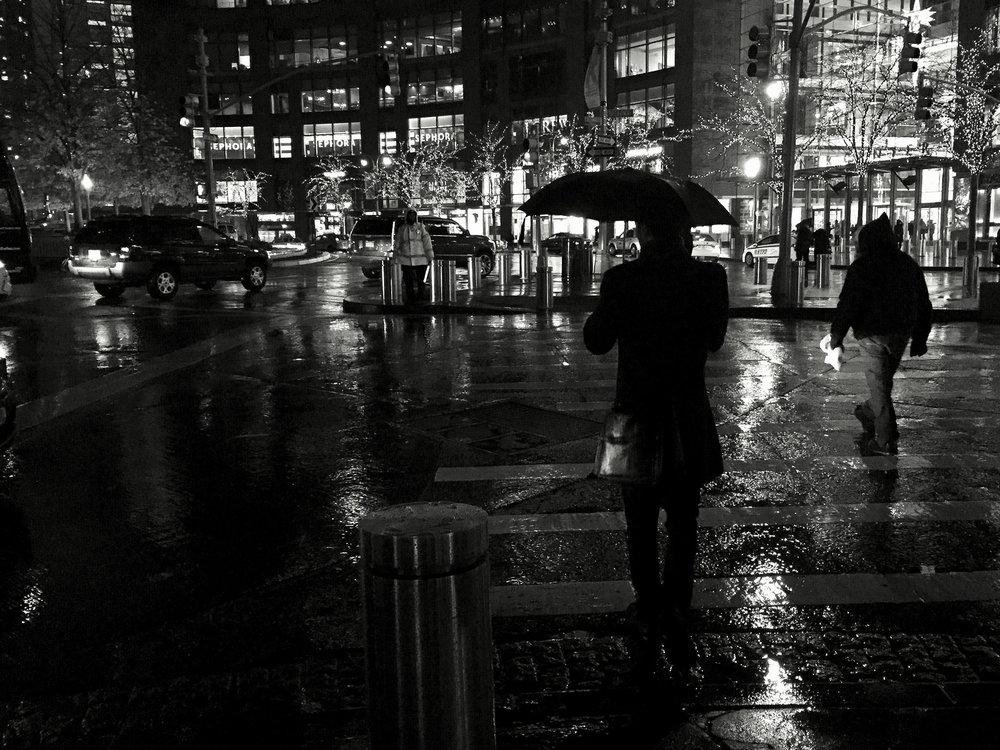 a rainy night in New York