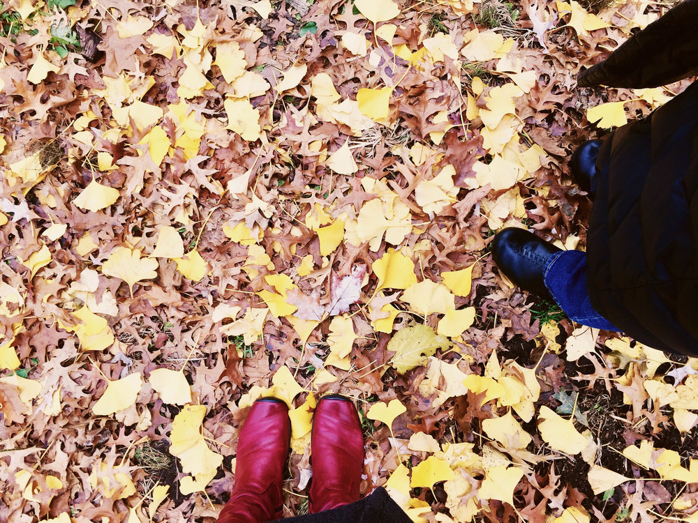 my and Jen Lee's feet in New York's Central Park