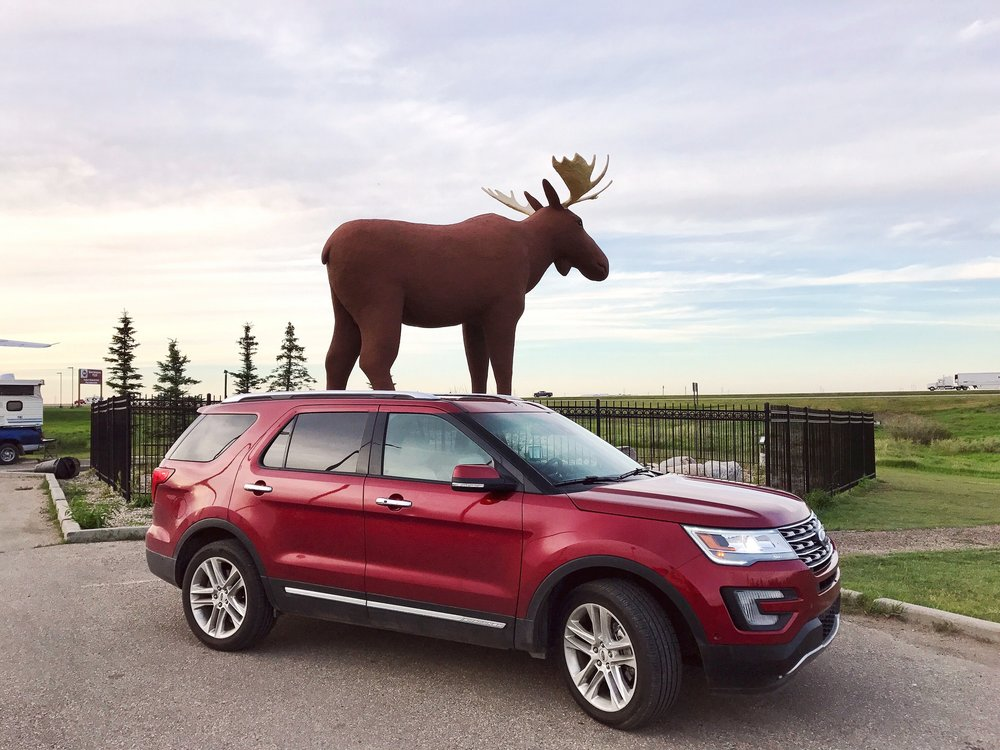 Ford Explorer and Mac the Moose