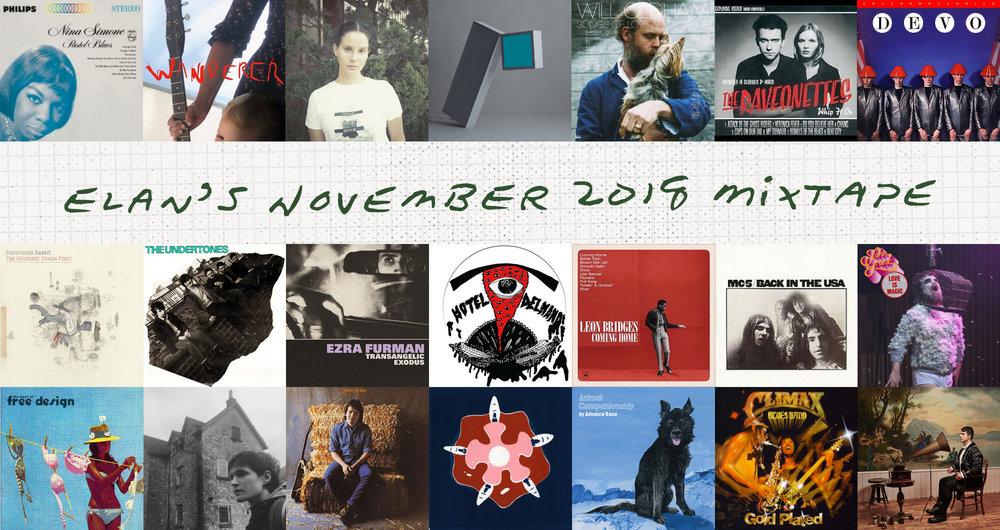 Elan's November 2018 Mixtape album covers
