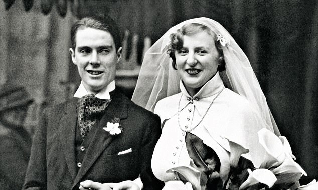 Anthony Powell with his wife Violet on their wedding day in 1934