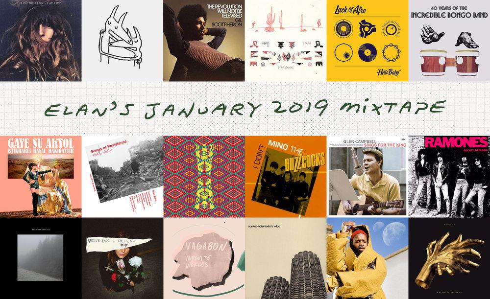 Elan's December 2018 Mixtape album covers