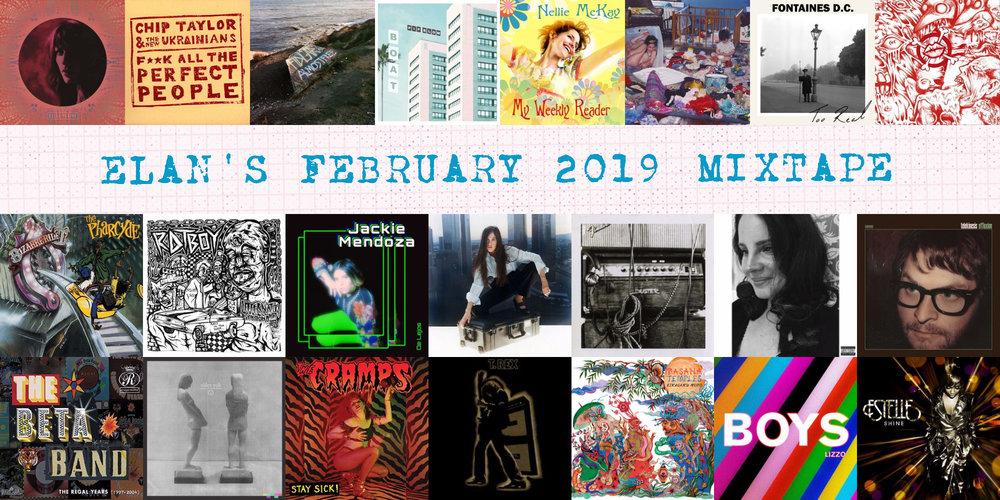 Elan's February 2019 Mixtape album covers