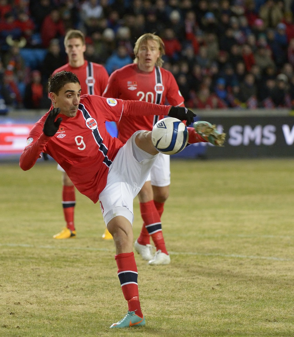 Gress fra Ullevål stadion under Norge-Albania