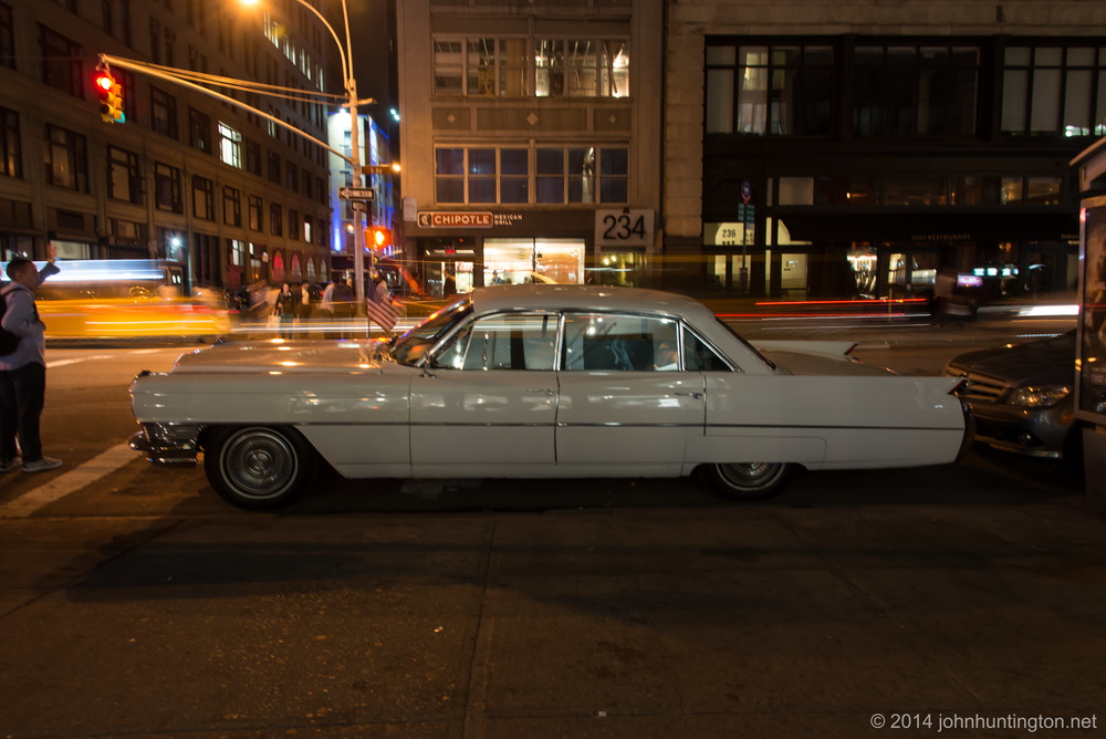 Charlie DiStefano's 1962 Cadillac, featured with the 69ers Motorcycle Club in an honor guard for Al.