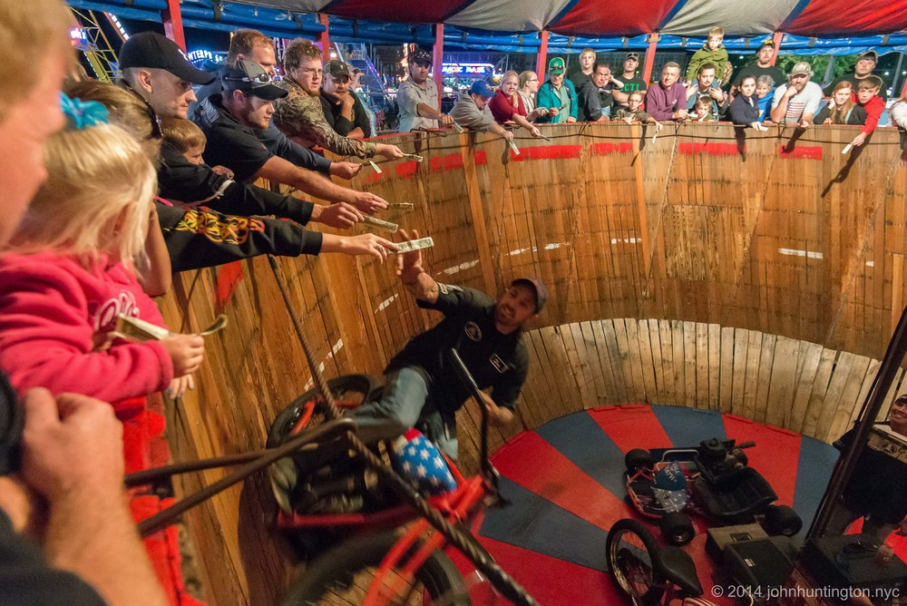 Wall of Death at the Bloomsburg Fair, September, 2014