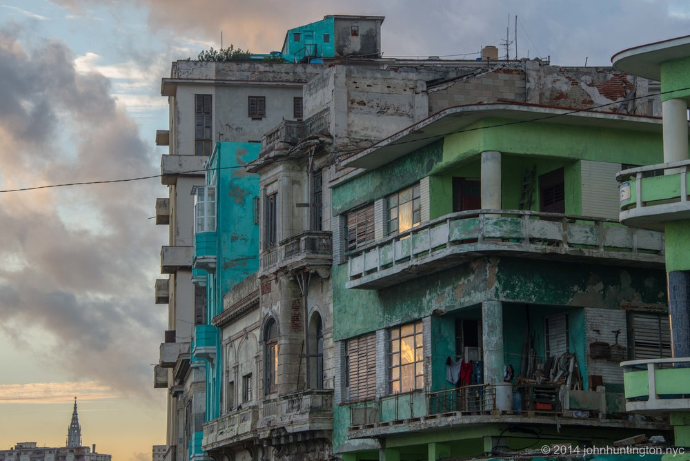 Havana, Cuba Sunrise, January 2014