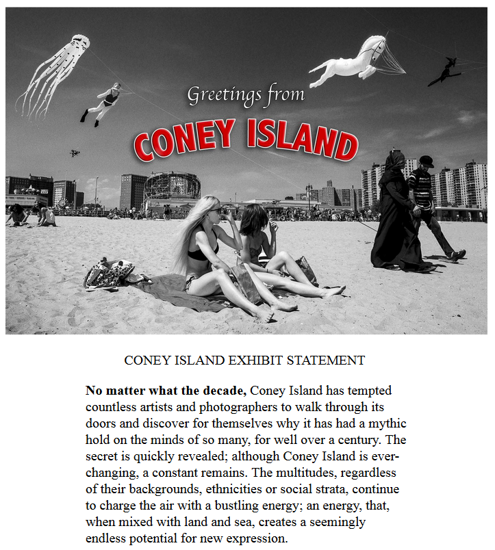Greetings from coney island photo show control geek greetings from coney island photo show m4hsunfo