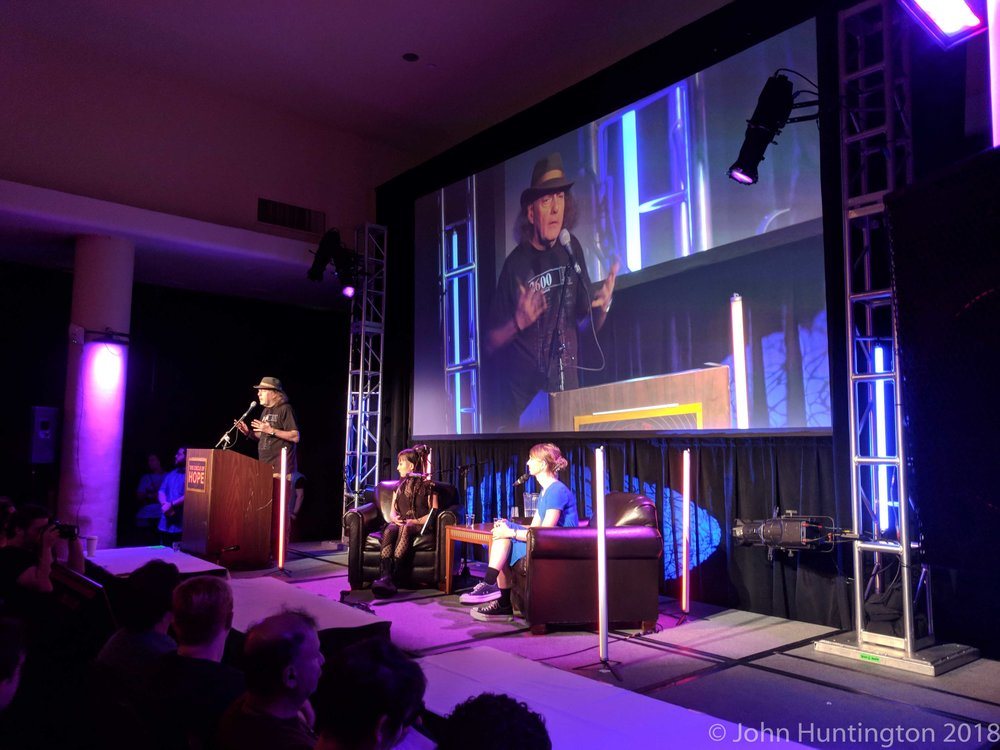 Chelsea Manning speaking at the 2018 Circle of HOPE Conference