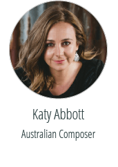 Katy Abbott Australian Composer Graphic design client