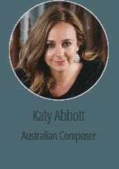 Katy Abbott Australian Composer Graphic design client brisbane