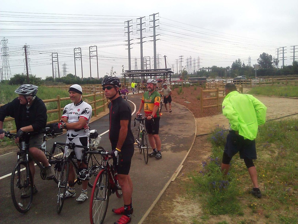 STARTING GATE FOR A 32 MILE RIDE