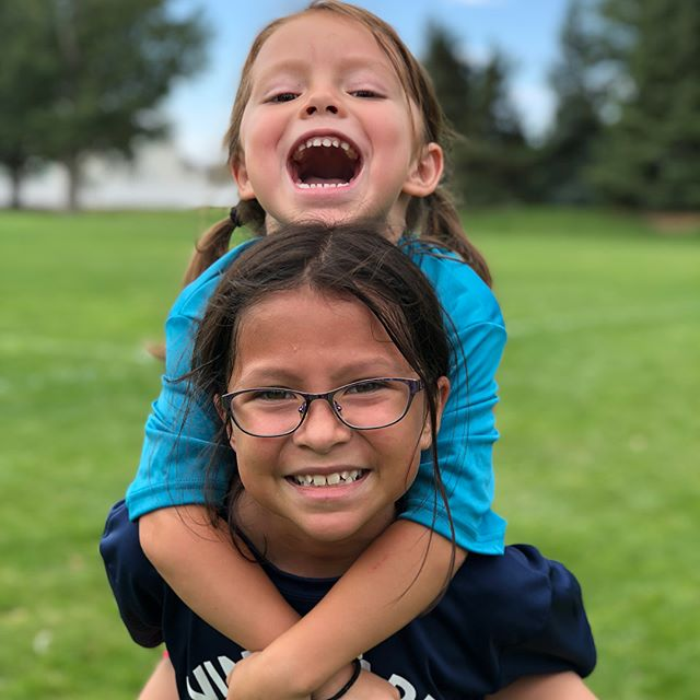 These two beautiful girls of mine played soccer today! They love each other so much and are practically best friends. Sometimes I get on their case because they laugh so much and I think they're fighting. 😂 I'm so proud of them and they both did amazing. Naomi scored a goal in her first game and Veronica was tough chasing people around and stopping people from scoring playing defense. #⚽️ #soccer #girlsrule #womensoccer #sisters #prouddad #vineyardutah