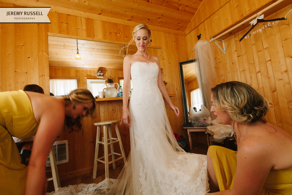 Bride preparation at Claxton Farm