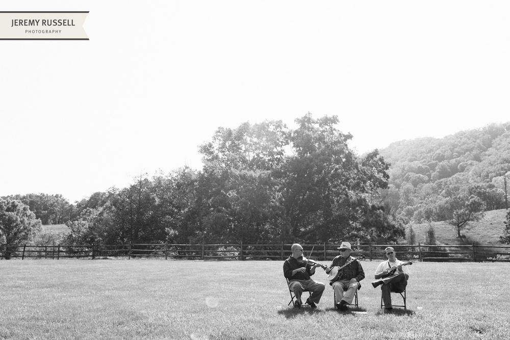 Musicians at Claxton Farm