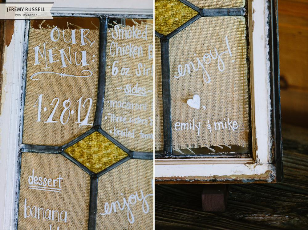 The Darling Bee window menu