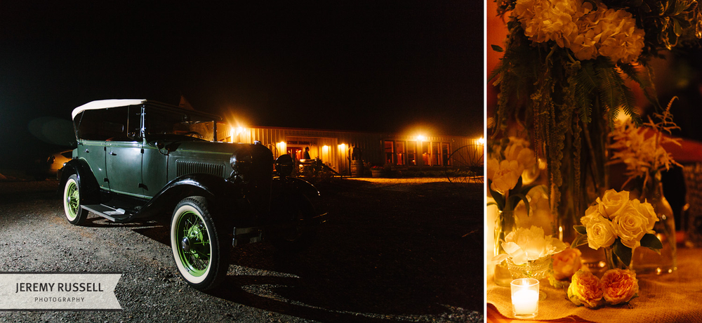 Classic car at Claxton Farm
