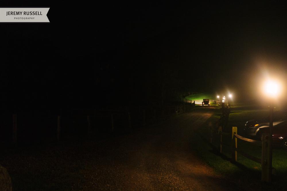 Classic car leaves Claxton Farm
