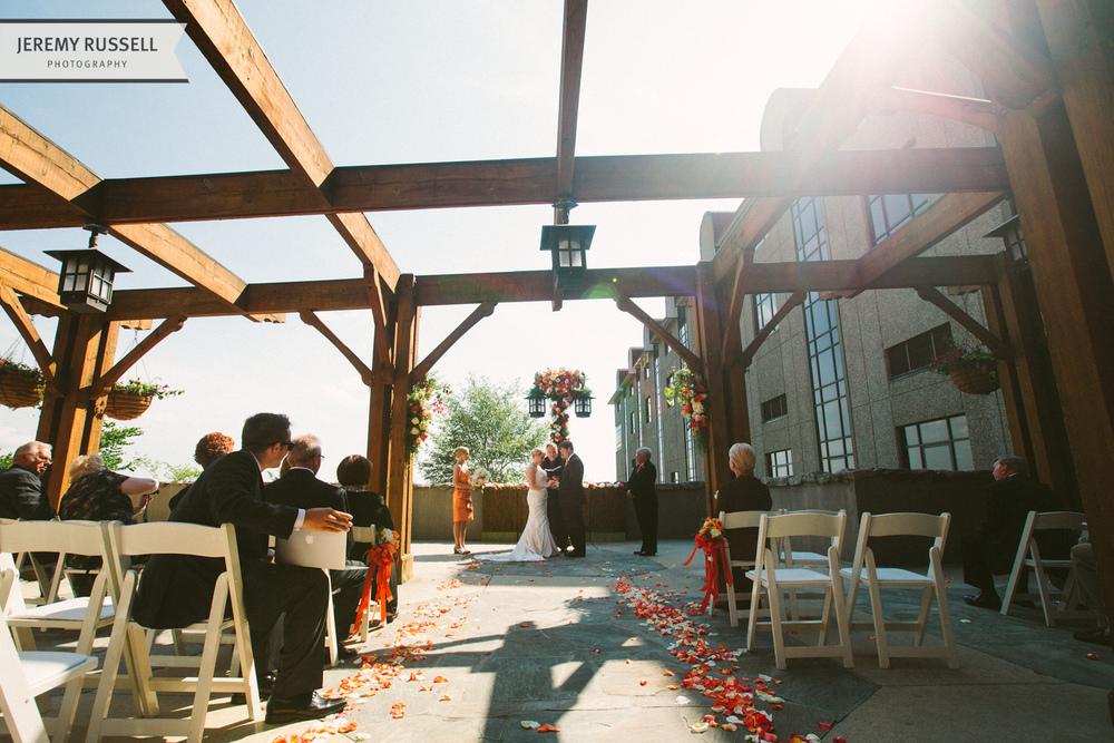 Grove Park Inn wedding ceremony