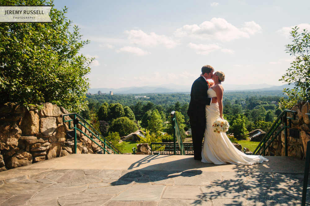 Bride and groom portrait. Asheville, NC.
