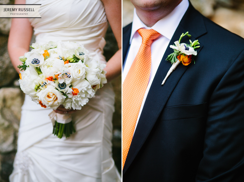 Bride and groom floral by BobbyMarks Designs