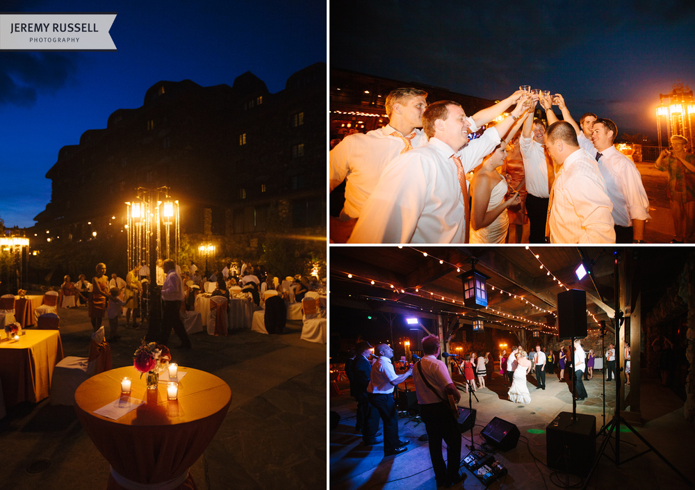 Beautiful and fun wedding reception at Grove Park Inn