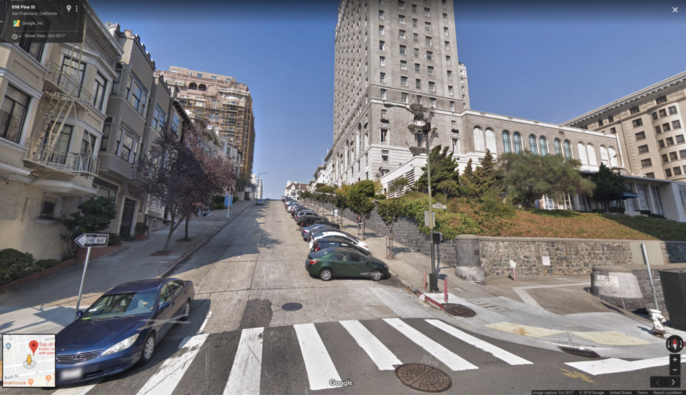 Google Street View facing North on Mason Street (Green Dot)