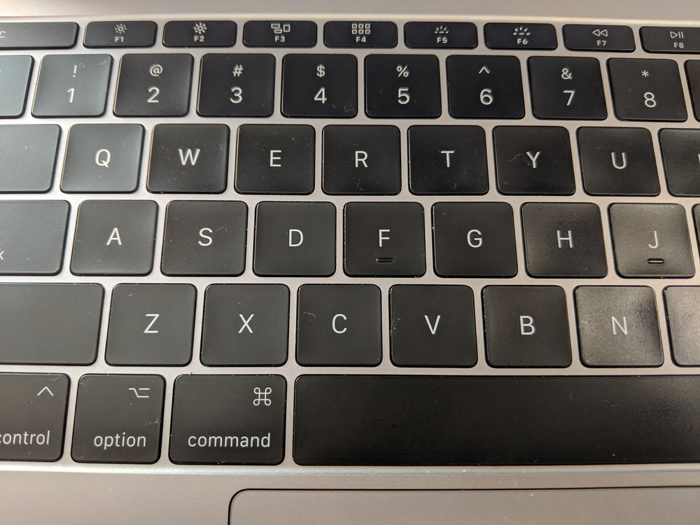Apple Macbook Pro (Late 2016) - First iteration of the new keyboard aside from the Macbook, with very little key travel.