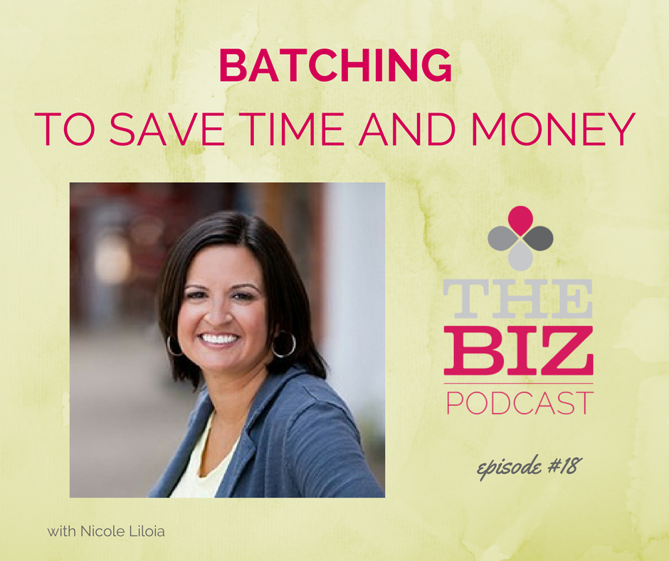 Batching to save time and money