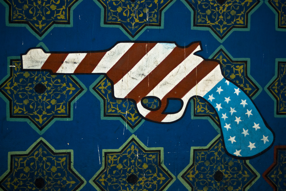 Mural on US Embassy, Tehran. Shutterstock