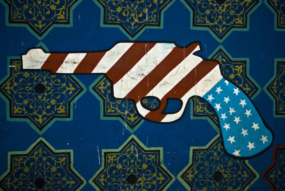 Mural on US Embassy, Tehran. Shutterstock