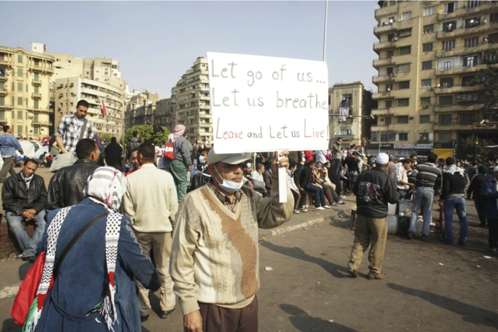 Protest in Tahrir Square, Cairo, 2011. Photo by Issandr El Amrani.