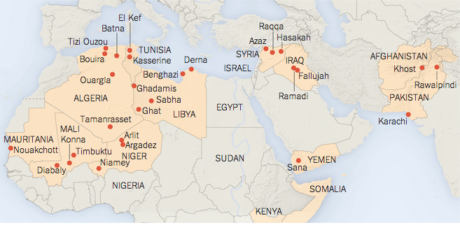 New York Times' map of al-Qaeda network