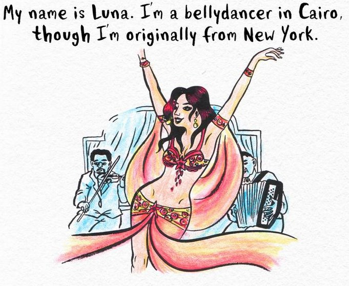 From the comic strip Luna of Cairo - see link below.