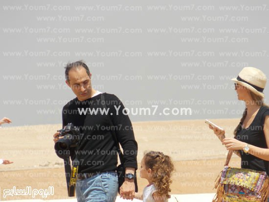 Gamal Mubarak, Hosni Mubarak's son -- a free man again -- visited the pyramids recently with his family.