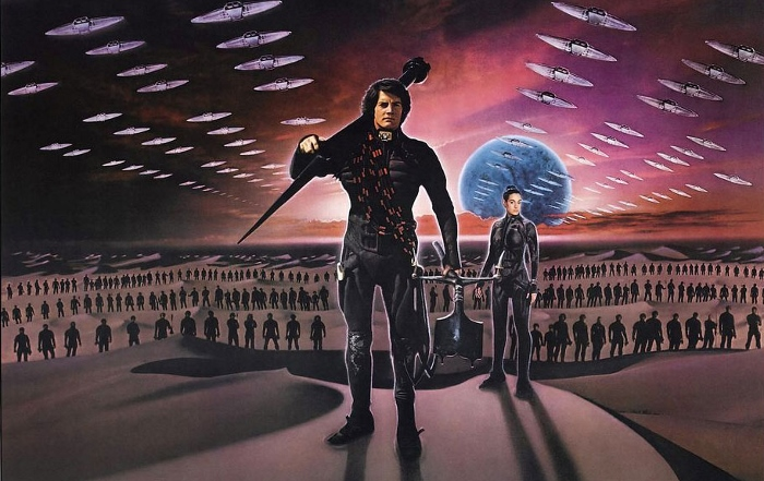 David Lynch's unjustly maligned (and actually quite good) 1984 adaption of Dune.