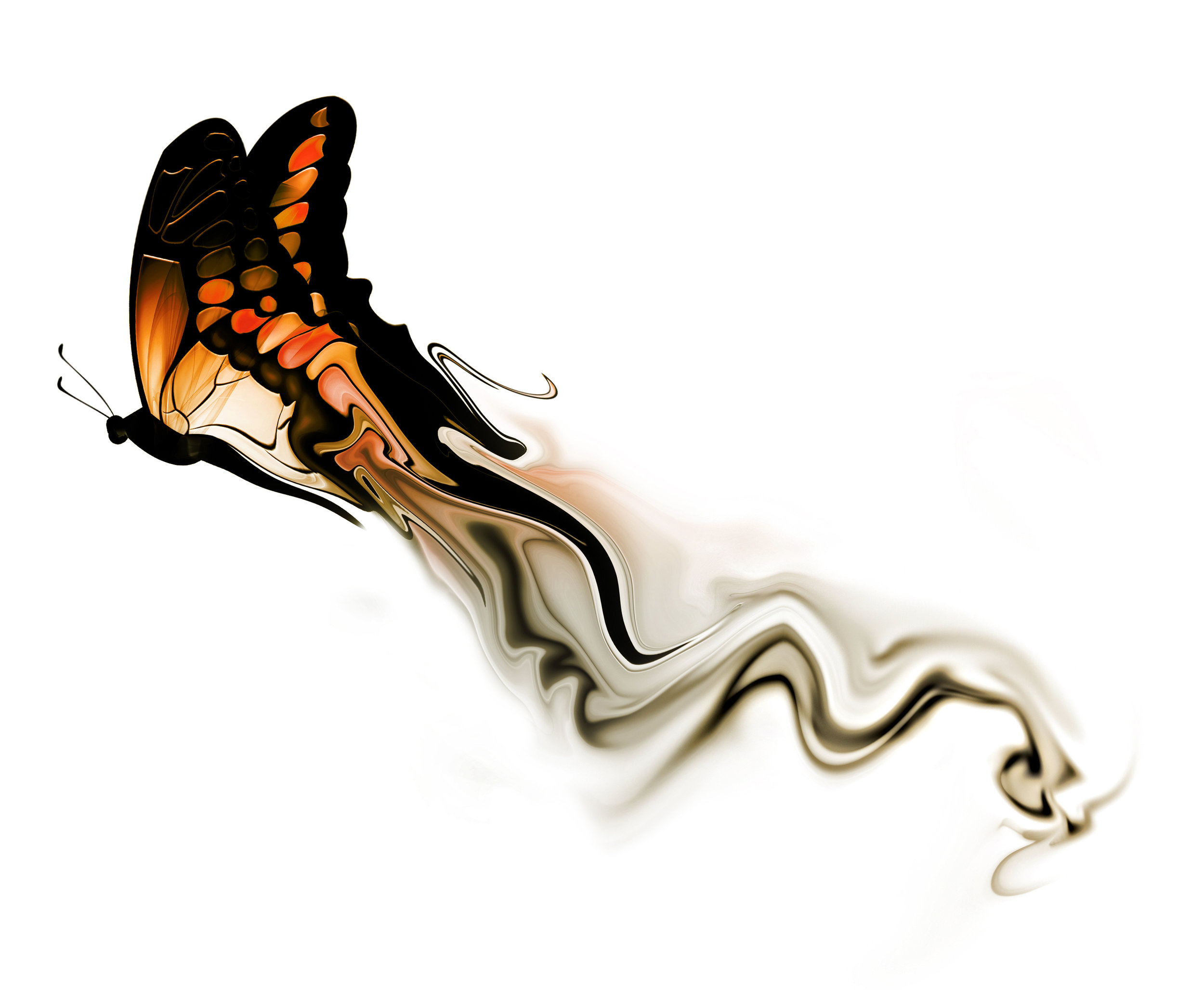 Image by Shutterstock Cool Heart Made Of Butterflies Women/'s Tee