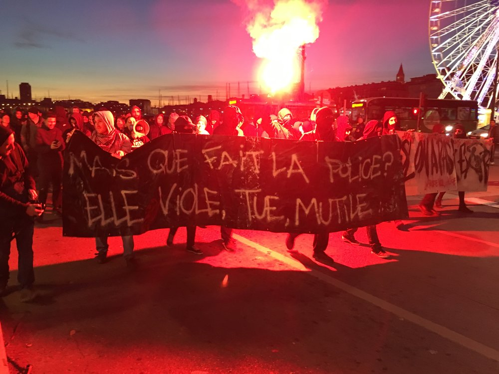 Anti-police brutality demonstration in Marseille.
