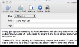 MarsEdit Screenshot
