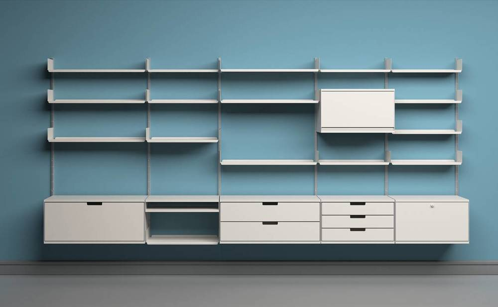 606 Universal Shelving SystemDesigned by Dieter Rams
