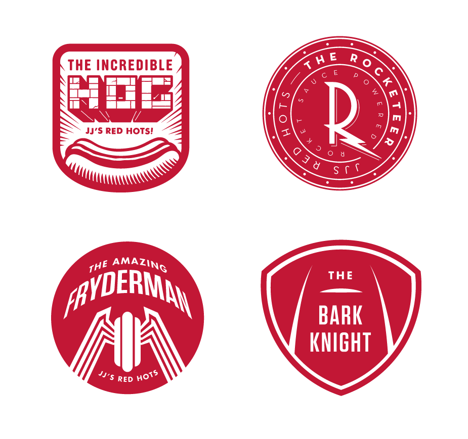 The superhero series badges are my favorite