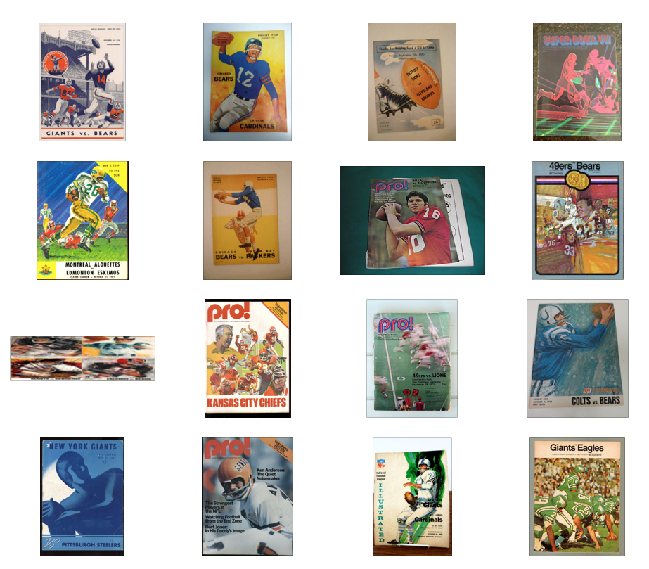Sampling of research into program covers