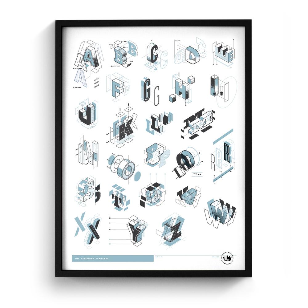 the exploded alphabet the design office of matt stevens direction design illustration