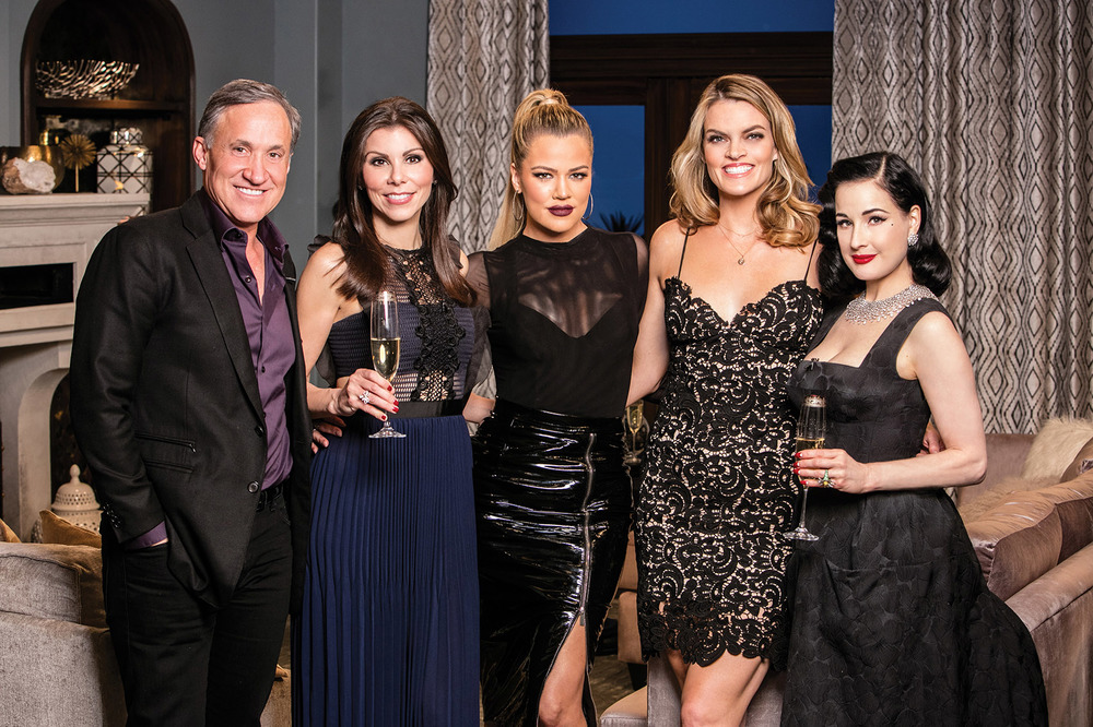 L to R_ Terry Dubrow, Heather Dubrow, Khloé Kardashian, Missi Pyle and Dita Von Teese.jpg