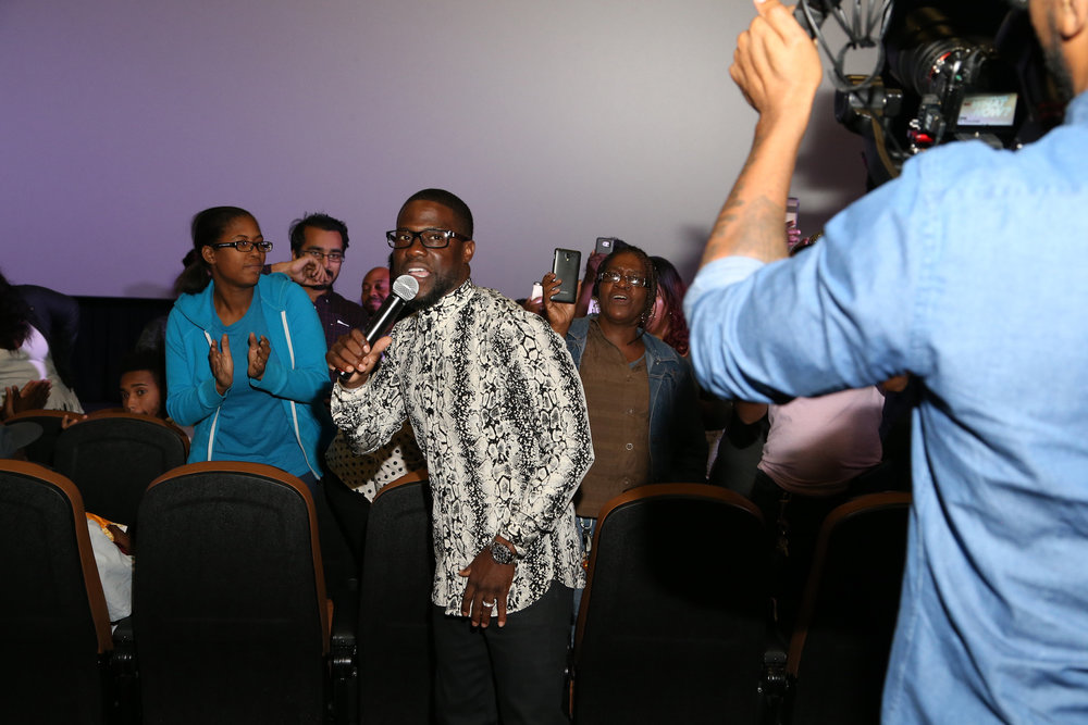 "KEVIN HART attends special hometown fan screening of Universal Pictures' ""Kevin Hart: What Now? in Philadelphia, PA."""