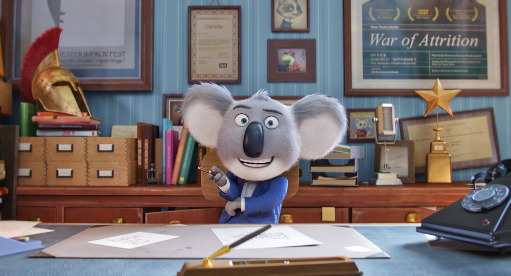 """Academy AwardÆ winner MATTHEW MCCONAUGHEY stars as dapper koala Buster Moonówhose charm and passion are utterly contagiousóin the event film """"Sing,"""" from Illumination Entertainment and Universal Pictures."""