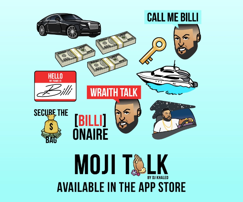 DJ Khaled launches MOJI TALK